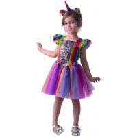 Šaty na karneval Jednorožec 92 - 104 cm