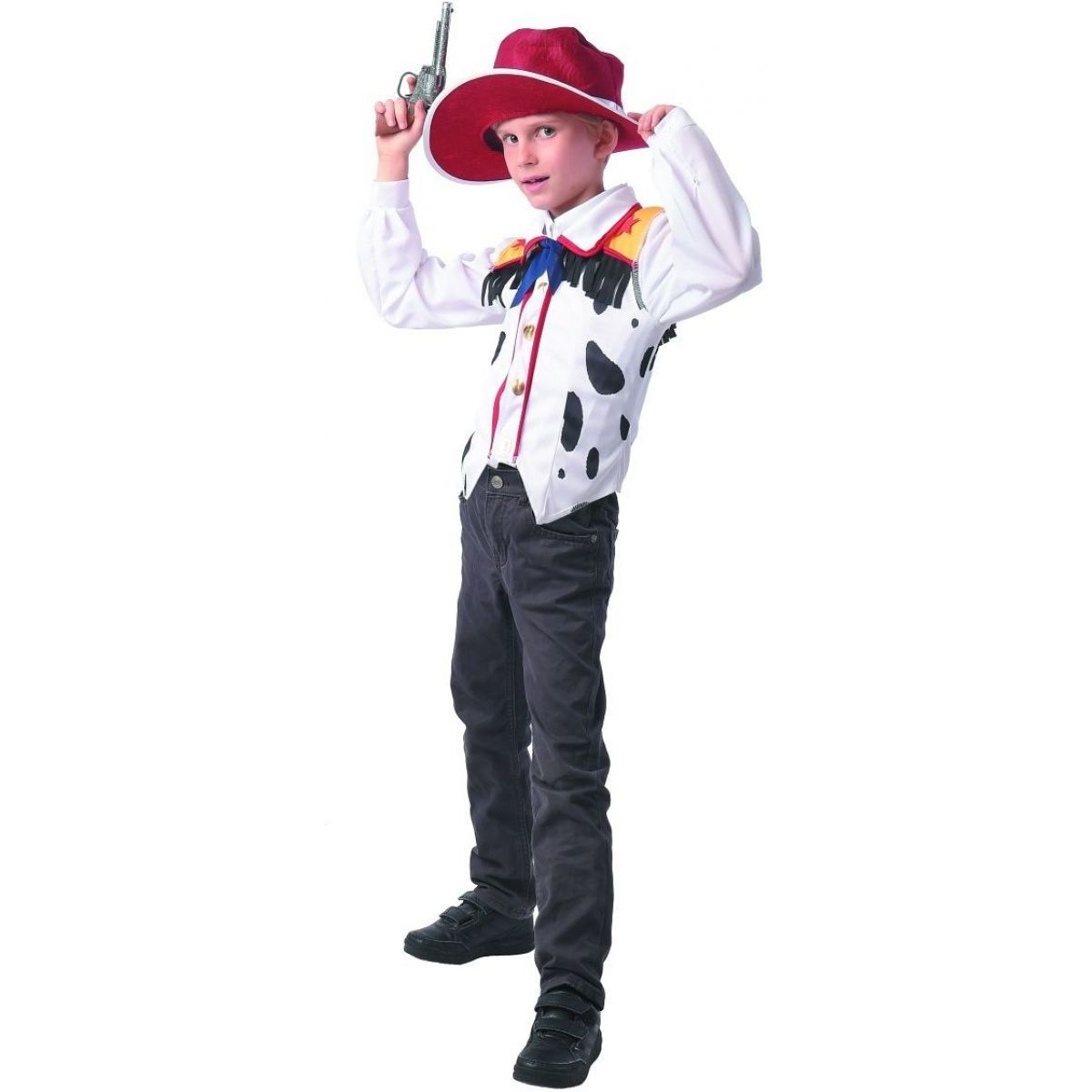 Šaty na karneval kovboj 120 - 130 cm