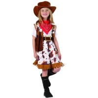 Made Šaty na karneval Kovbojská dívka v kloubouku 120 - 130 cm