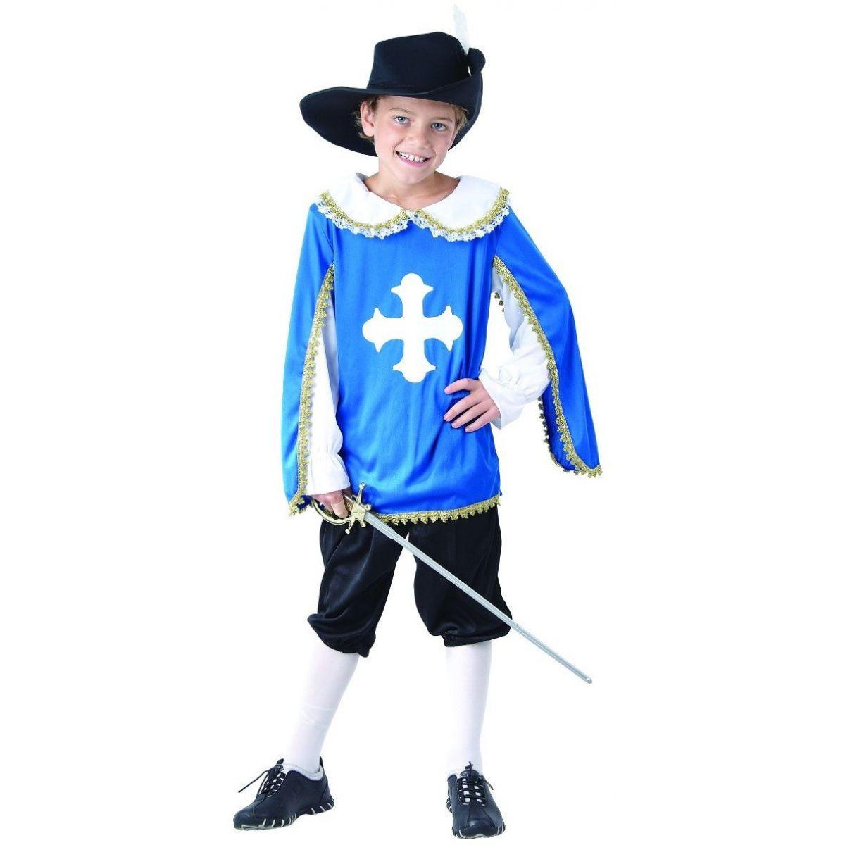 Šaty na karneval mušketieri 120 - 130 cm