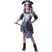 Šaty na karneval zombie pirátka 120 - 130 cm