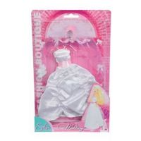 Steffi Love Šaty pro panenku Steffi svatební Svatební světle růžová korunka