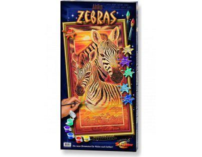 Schipper Hochformat Afrika zebry 40 x 80 cm