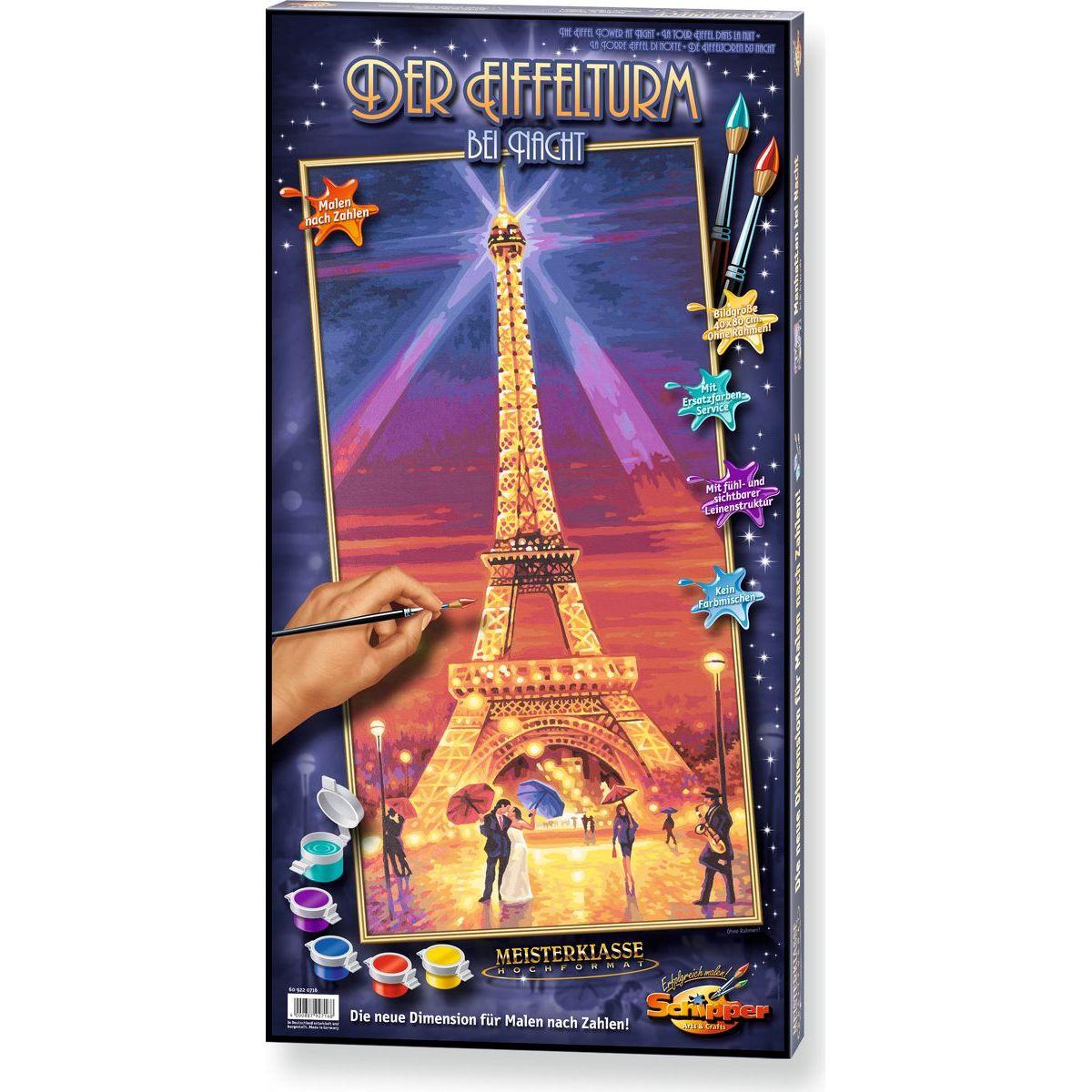 Schipper Hochformat Eiffelova věž v noci 40 x 80 cm