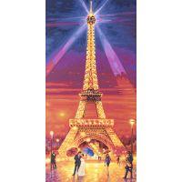 Schipper Hochformat Eiffelova věž v noci 40 x 80 cm 2