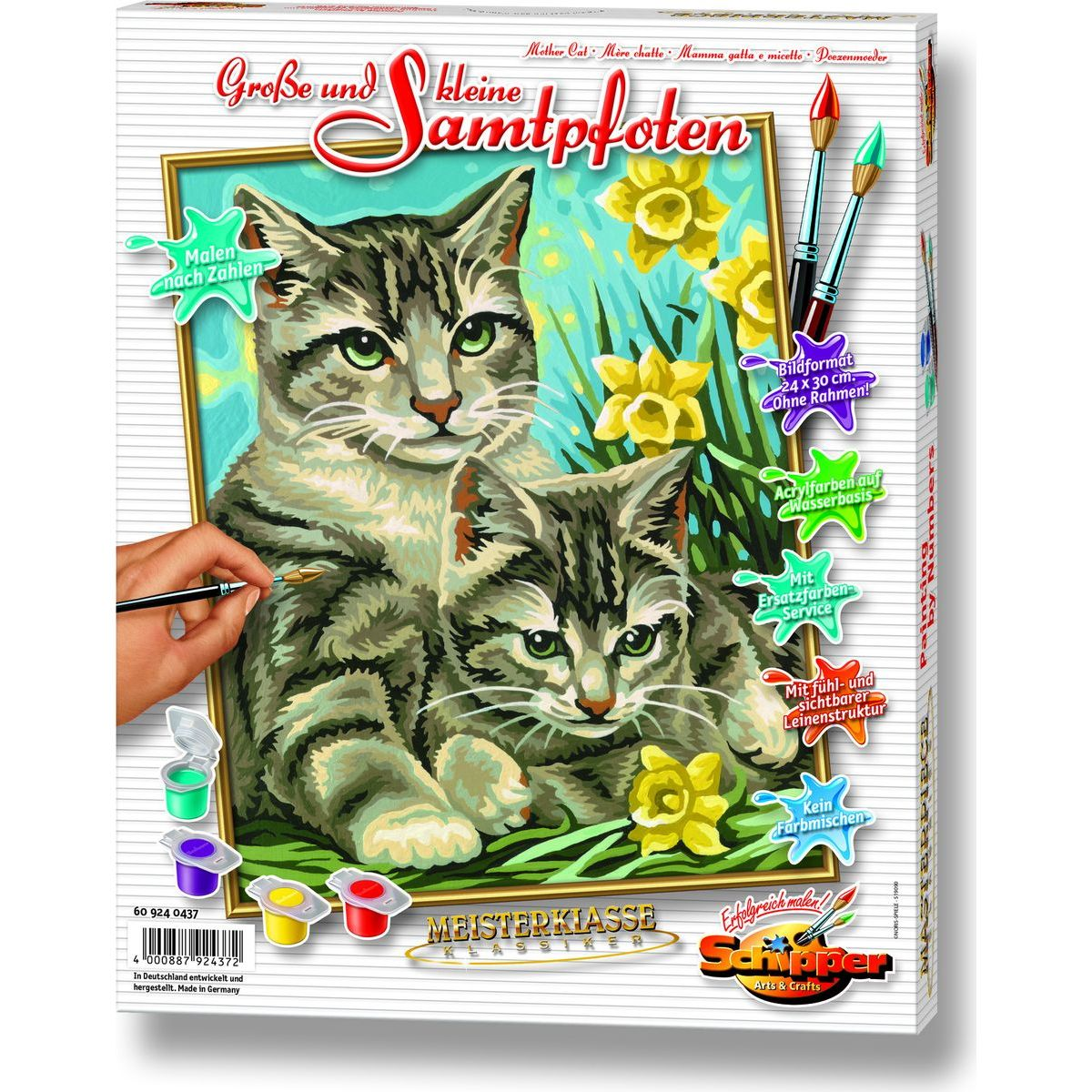 Schipper Classics Kočka s kotětem 24 x 30 cm