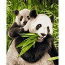 Schipper Classics Panda s mládětem 24 x 30 cm 2