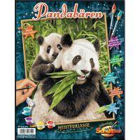 Schipper Classics Panda s mládětem 24 x 30 cm