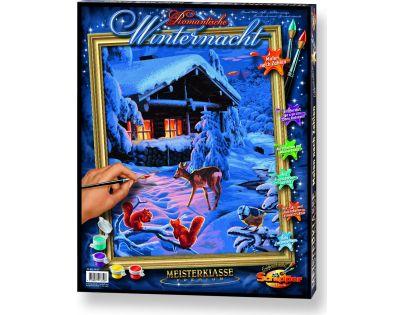 Schipper Premium Romantická zimní noc 40 x 50 cm