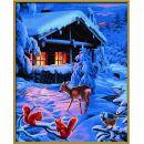 Schipper Premium Romantická zimní noc 40 x 50 cm 3