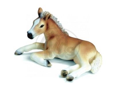 Schleich 13292 - Zvířátko - hříbě hafling ležící