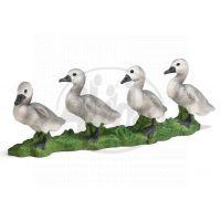Schleich 13657 - Zvířátka - 4 labutí mláďata za sebou