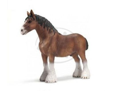 Schleich 13670 - Zvířátko - Clydesdálský hřebec