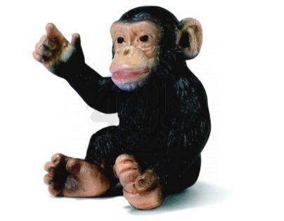 Schleich 14192 - Zvířátko - šimpanzí mládě