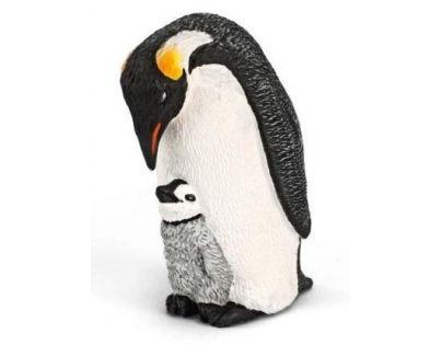 Schleich 14632 - Zvířátko - tučňák s mládětem