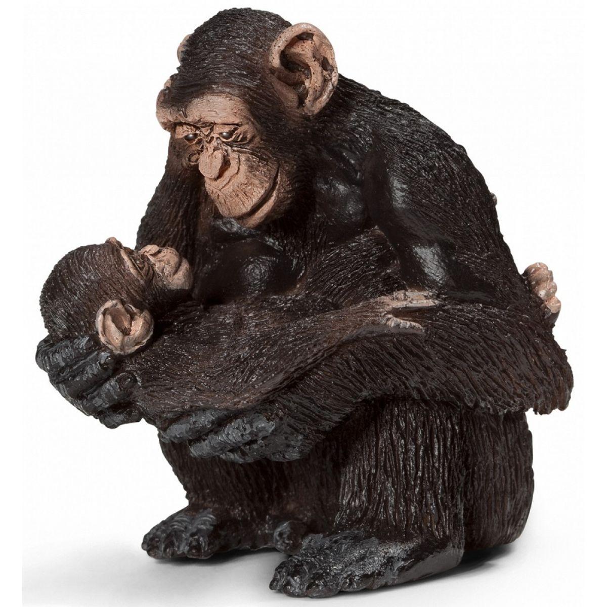 Schleich 14679 Samice šimpanze s mládětem