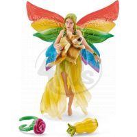 Schleich Duhová elfí víla Meena s létající veverkou