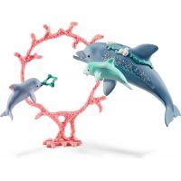 Schleich Set delfín s mláďaty