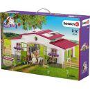 Schleich 42344 Stáj s koňmi a příslušenstvím v pastelových barvách 5