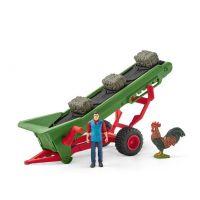 Schleich 42377 Zemědělský dopravník na seno s farmářem