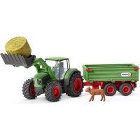 Schleich 42379 Traktor s vlekem