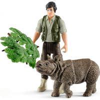 Schleich Set indický nosorožec v džungli