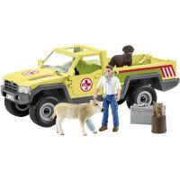 Schleich Záchranné terénní auto s veterinářem