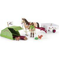 Schleich Sarah s koníkom a zvieratkami kempujú