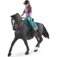 Schleich 42541 Hnědovláska Lisa s pohyblivými klouby na koni