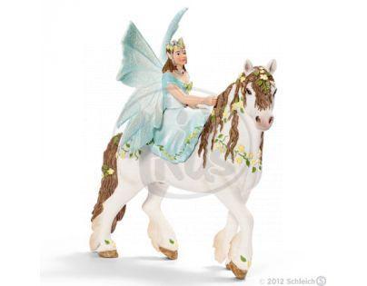 Schleich Elfí víla na květovaném koni