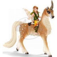 Schleich Elfí chlapec na lesním jednorožci