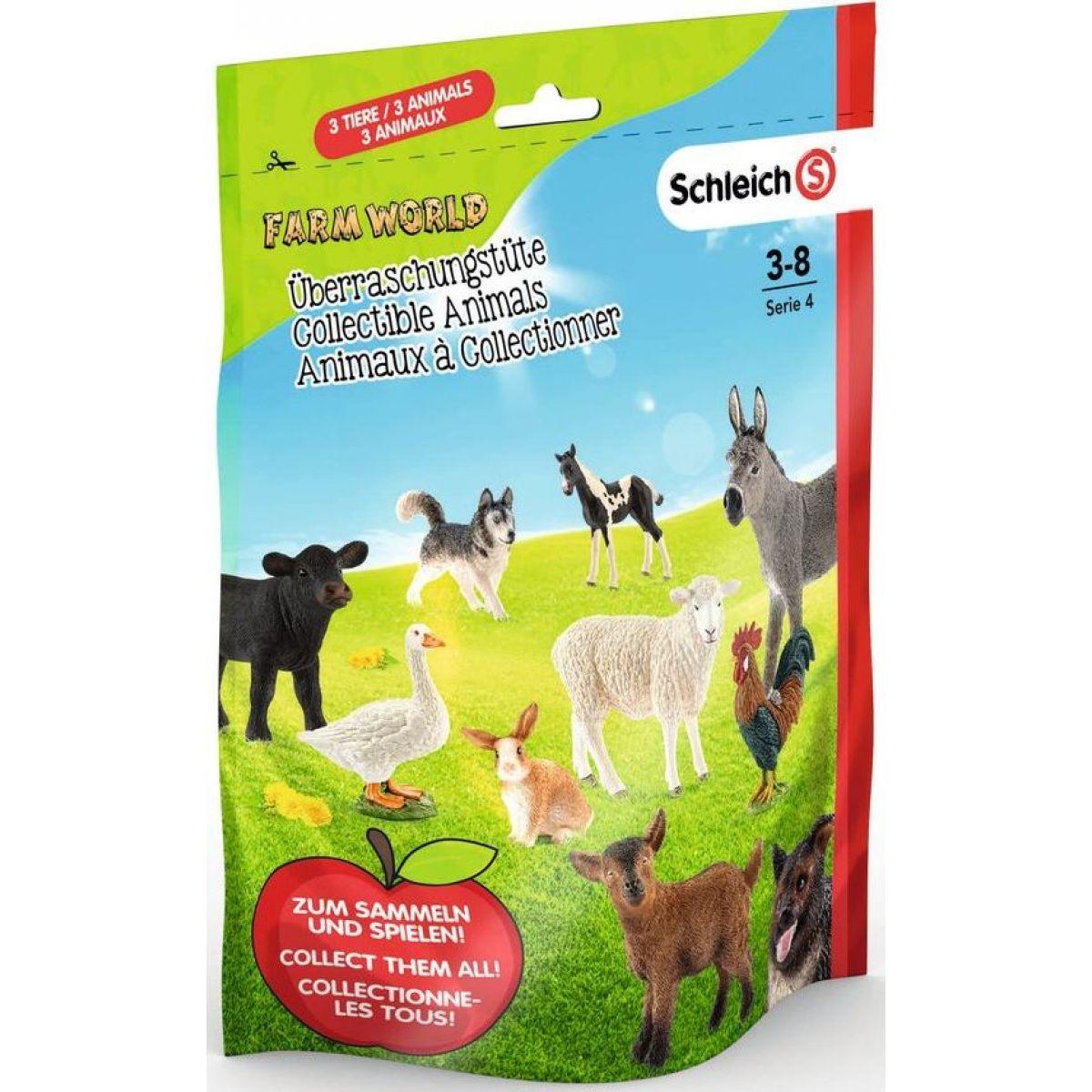 Schleich 87859 Vrecko s prekvapením farmárske zvieratká L séria 4