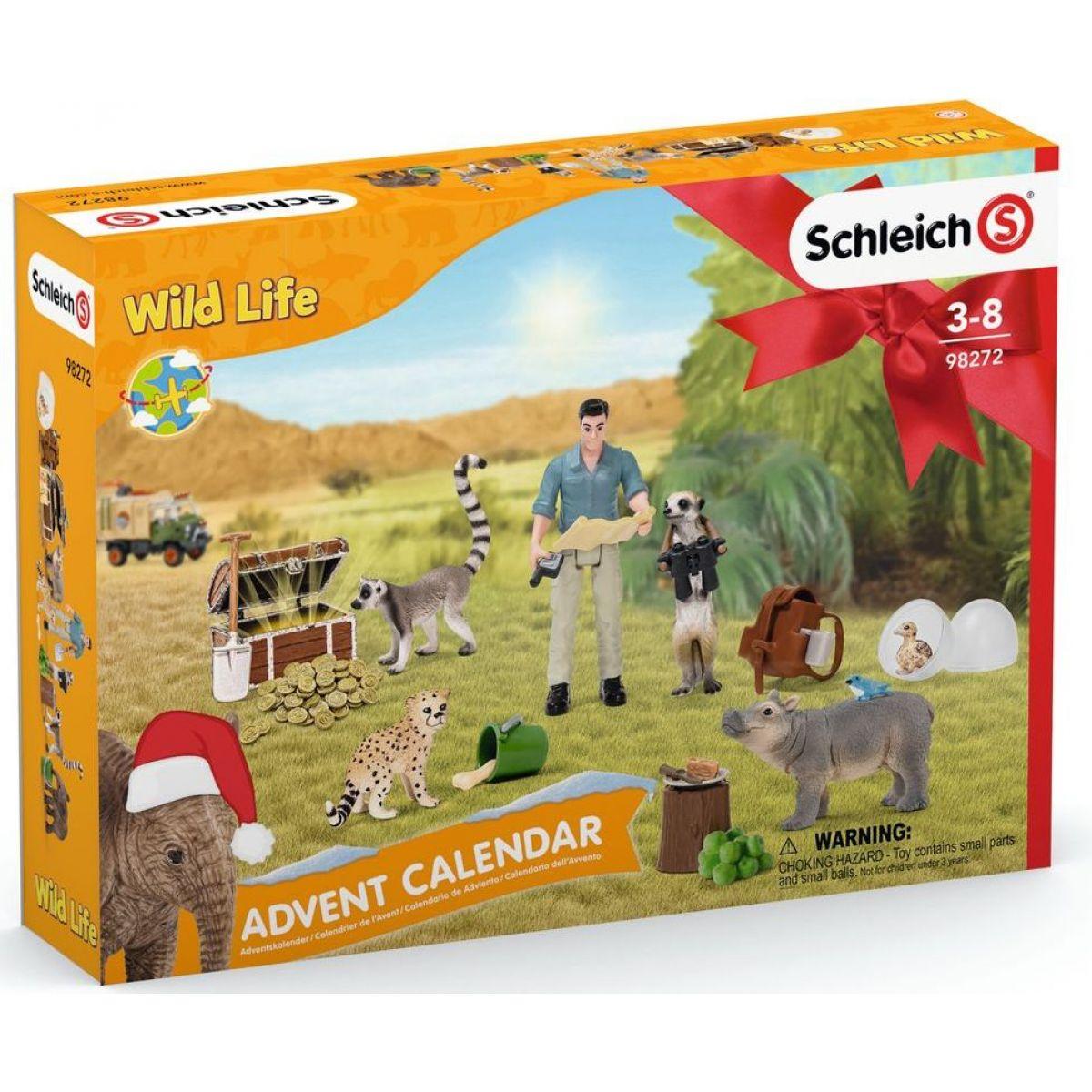 Schleich Adventný kalendár 2021 Africké zvieratá