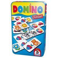 Schmidt 12408 - Domino junior - hra v plechové krabičce
