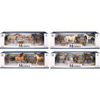 EP Line Series Model Svět zvířat, 2 koně, hříbě a figurka