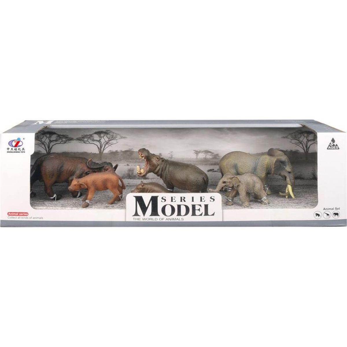 EP Line Series Model Svět zvířat Buvoli hroši a sloni