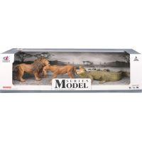 EP Line Series Model Svět zvířat Sada lev, lvice a krokodýl