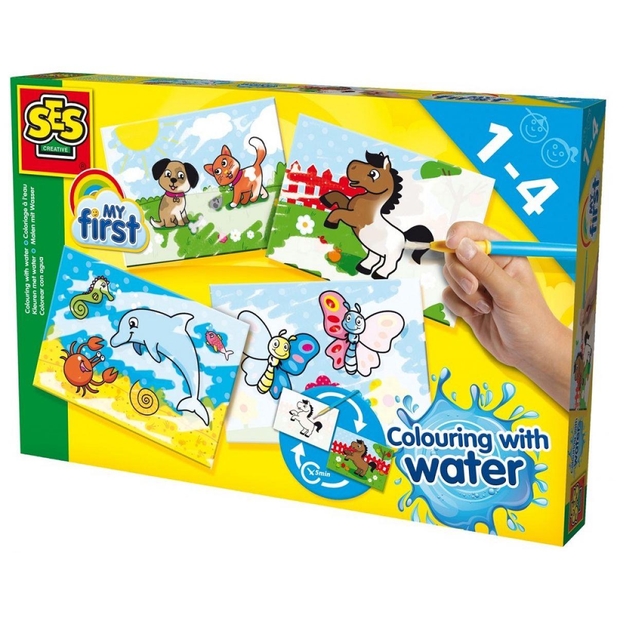 Ses Moje první malování štětcem a vodou