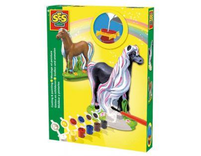 SES 1273 - Sádrový komplet - kůň s hřívou