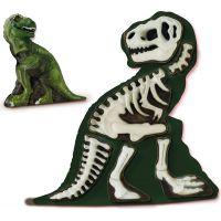 SES Sádrový komplet svítící kostra T-rexe