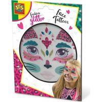 SES Třpytkové tetování na obličej kočka