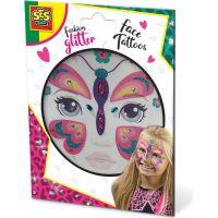 SES Třpytkové tetování na obličej Motýl