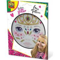 SES Třpytkové tetování na obličej Princezna
