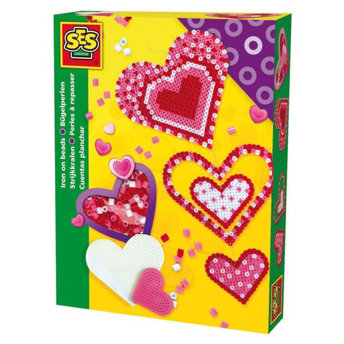 SES 14895 - Zažehlovací korálky - 2x srdce