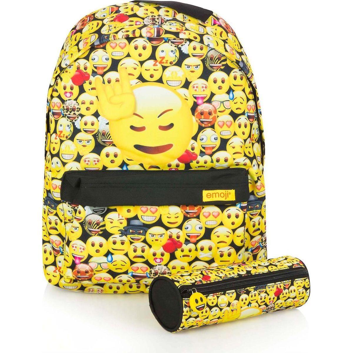 Made Set batohu s pouzdrem Emoji Yellow