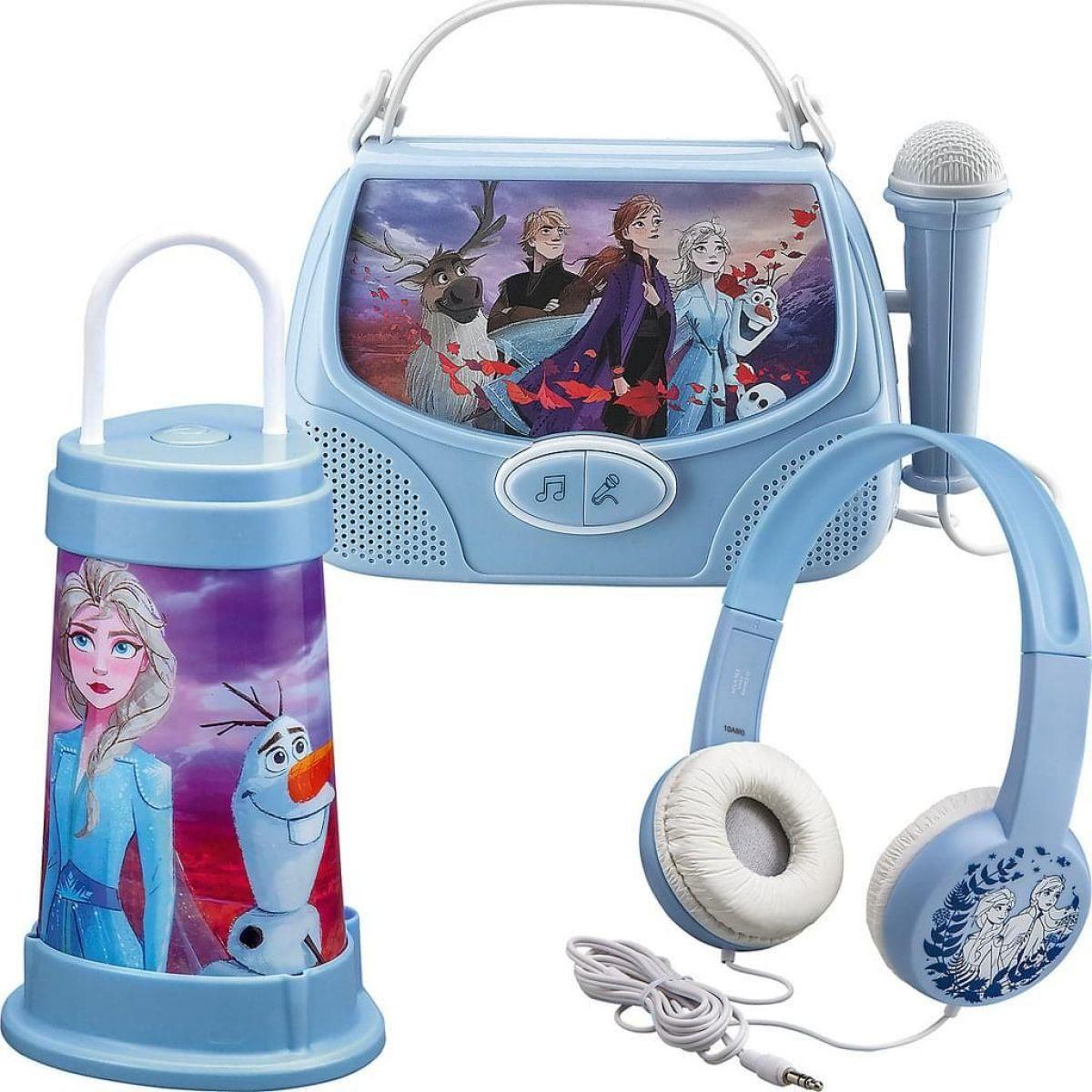 Globix Set Frozen se sluchátky, svítilnou a karaoke boxem