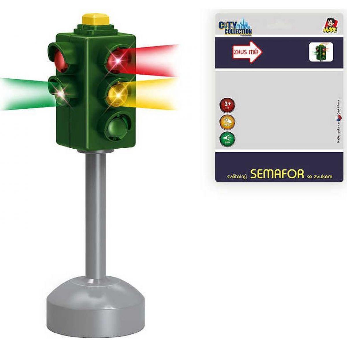 Made Set semaforu se značkami 20 x 15 cm