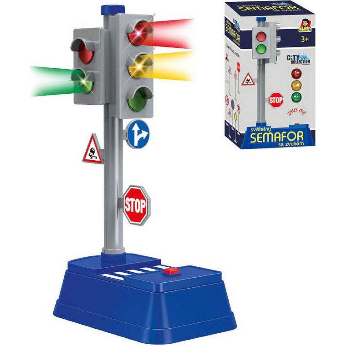 Made Set semafor se značkami 24 x 14 cm