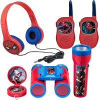 Globix Set Spiderman vysílačky, sluchátka, baterka a kompas