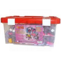 Vista 0301-40 - Stavebnice Seva pro dívky 1 Jumbo plast 1172ks v plastovém boxu